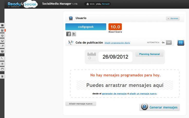 Ready4Social, herramienta para programar y generar contenido automatico en redes sociales | Codigo Geek