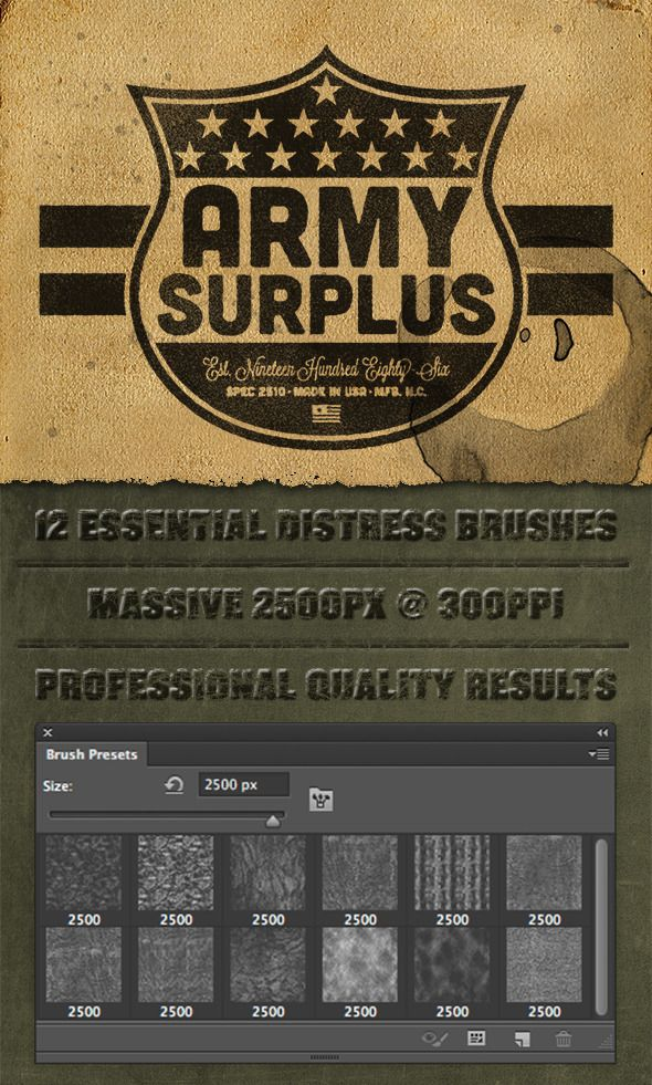 12 Photoshop Lite Distress Texture Brushes  - Photoshop Brushes • Download ➝…