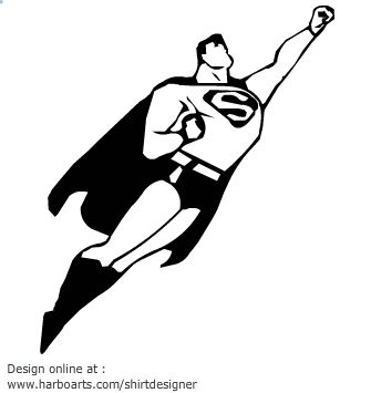 Superman Cartoon Silhouette Projects To Try Pinterest