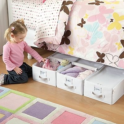 Canvas Totes for Under the Bed Storage - 5 Easy Storage and Organization Solutions for Any Kid's Bedroom
