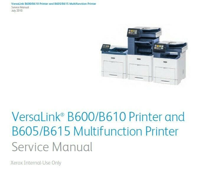 Xerox Versalink B600b610 Printer And B605b615 Multifunction Printer Service Manu