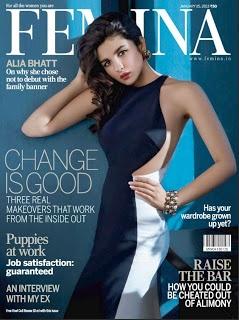 Alia Bhatt on The Cover of Femina Magazine – January 2013.