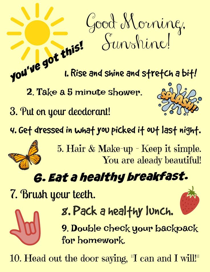 Get Your Day Off to a Great Start: A Morning Routine For Teen Girls