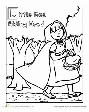 Red Riding Hood Coloring Page Red riding hood and Worksheets