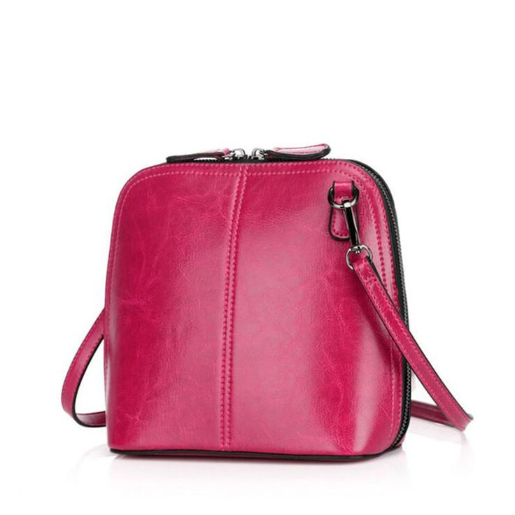 Classic retro color women crossbody bags Genuine leather shopping shoulder bag