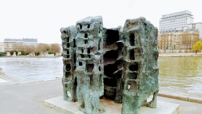 The Musee de la Sculpture en Plein Air is known for its striking artwork displayed along the Seine.