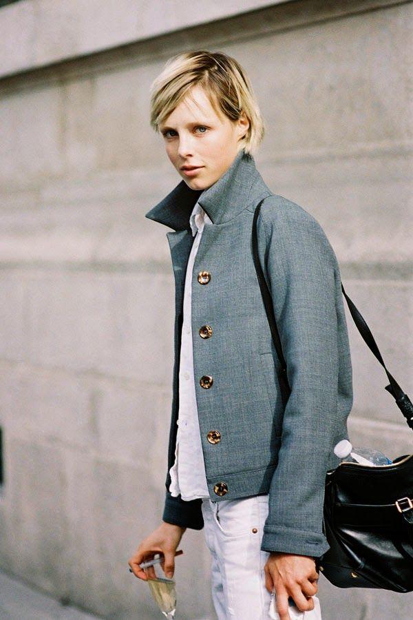 British model Edie Campbell, after Sacai, Paris, September 2014.