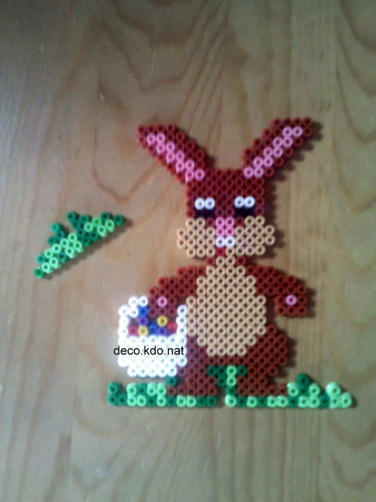 Easter bunny - Osterhase hama beads by DECO.KDO.NAT