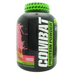Muscle Pharm Combat Protein Powder, Strawberry Cheesecake, 4 Lb, Red