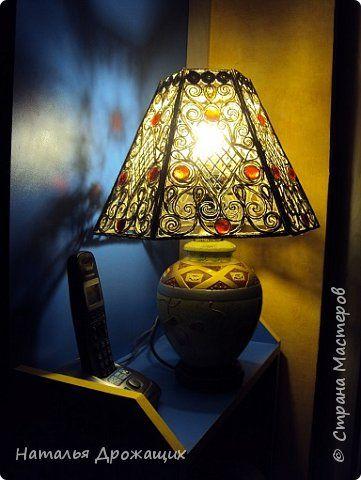 Поделка изделие Моделирование конструирование Плафон для настольной лампы из джутовых ниток Нитки фото 6
