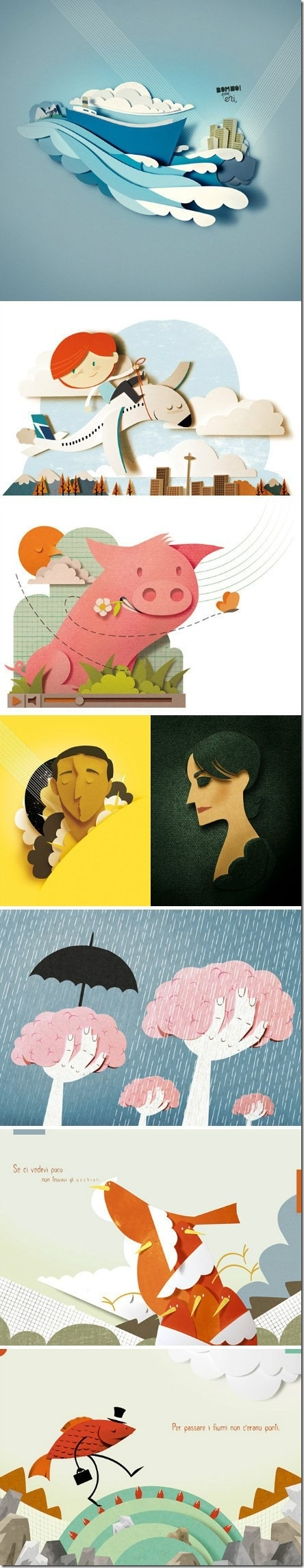 collection of paper art