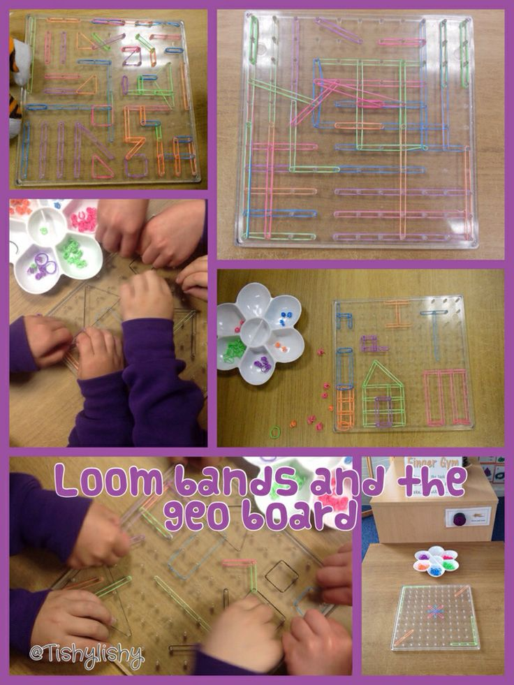 Loom bands at the Finger Gym area