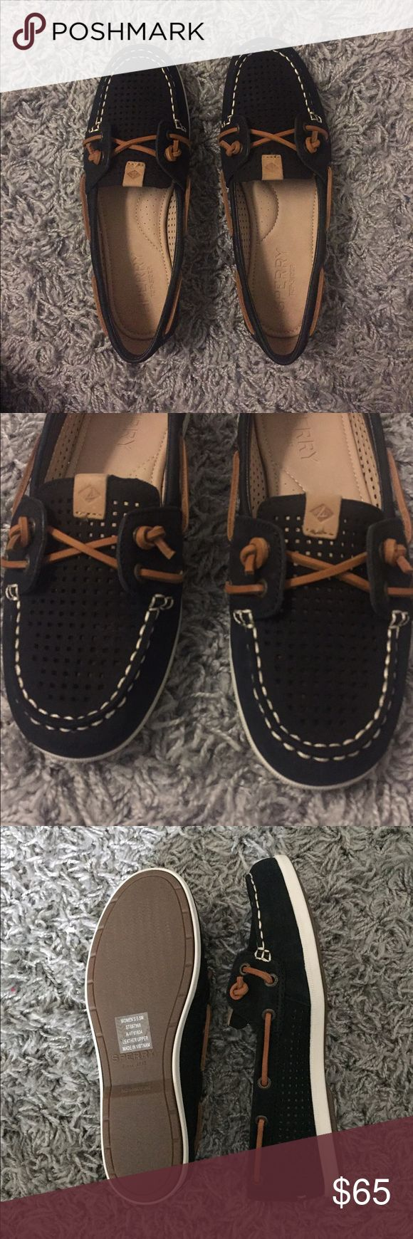 Sperry Black Coil Ivy Boat Shoe- Brand New! These black sperry's have never been worn and are in perfect condition! I love these but they are too small for me. Goes with almost any outfit! Sperry Shoes Flats & Loafers
