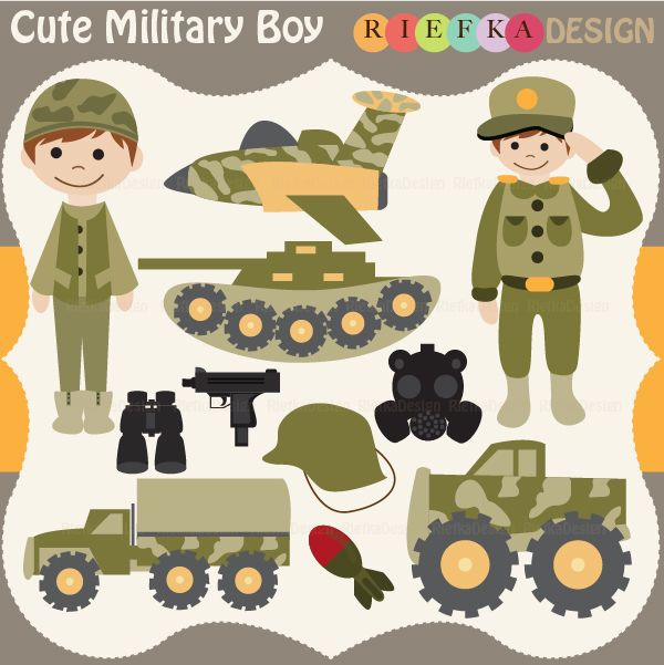 Cards for Military Troops Clip Art