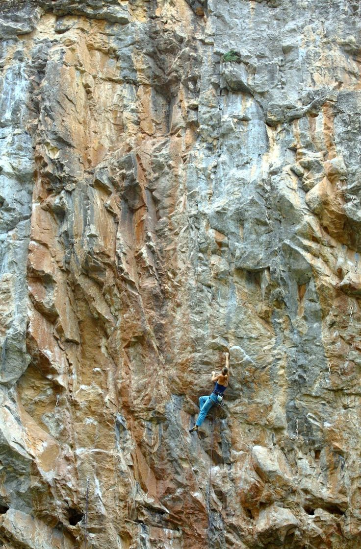 Rock climbing bliss. Haven't done in a long time...