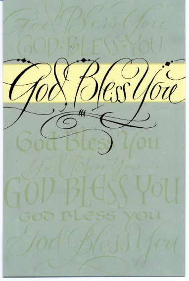 "God Bless You Inside: May His repeated blessings be yours for the special way you express His love. Thank You I will bless you....and you will be a blessing. Genesis 12:2 NIV PRODUCT INFORMATION: 5"" x"