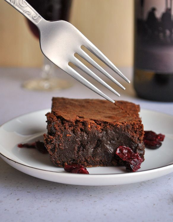 """""""Really delicious"""" is not enough of a superlative to describe these red wine brownies. If heaven has a scent, it's of these brownies baking in the oven."""