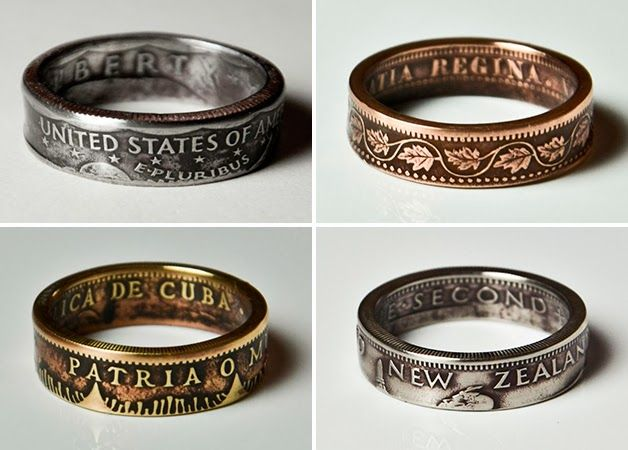 Designer Drills Holes Into Coins Turning Them Into Rings - Gallery