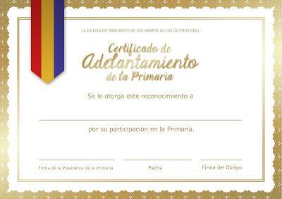 Certificado de Adelantamiento de la Primaria