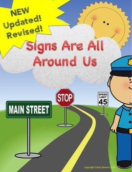 Updated, revised, and more activities added to this top selling product!!Do you have a student who likes traffic signs or other community signs that are found around both inside and outside? This is a book of signs which include the following: Full page book of signs in color, ready to be laminated page book of signs with name of sign printed.