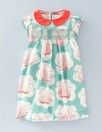 Boden girls' dress with collar.