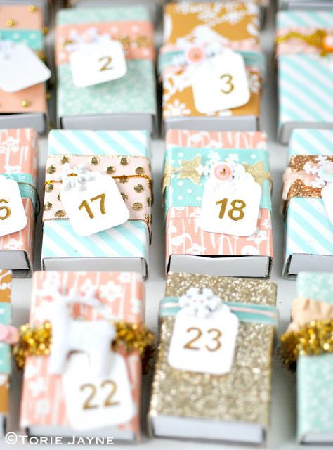 Matchbox Advent calendar tutorial by Torie Jayne