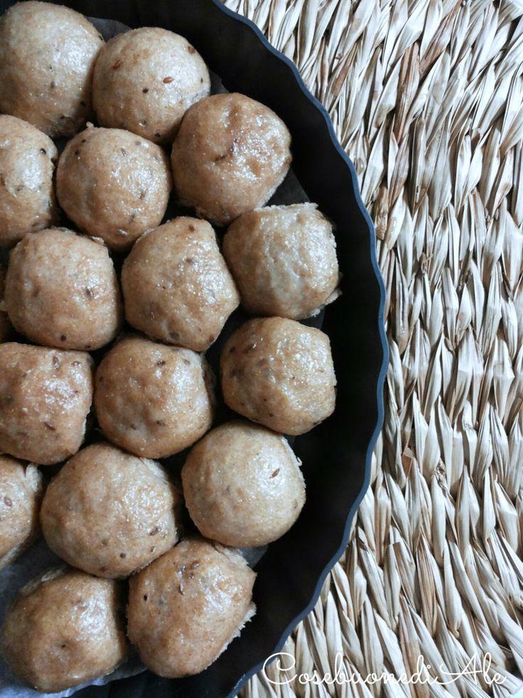 CosebuonediAle: panini integrali al vapore con hummus di ceci