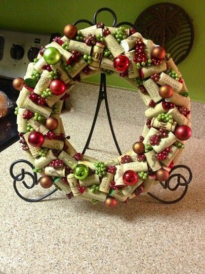 Holly Jolly Christmas Corker Wreath