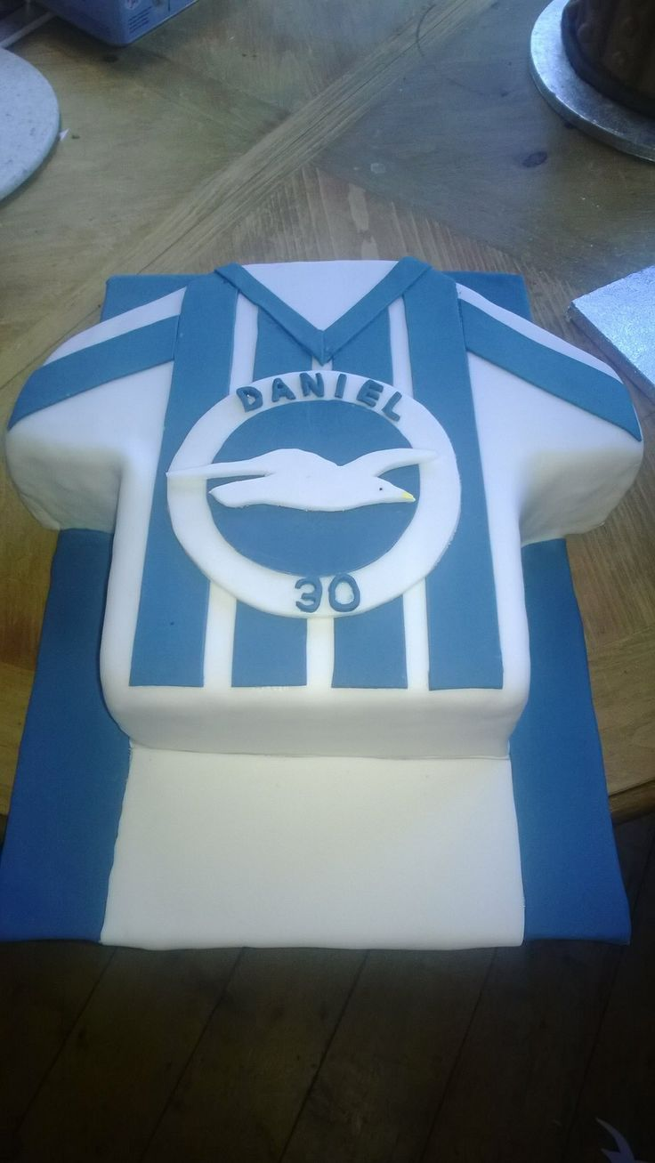 Brighton & Hove Albion FC inspired team shirt Cake
