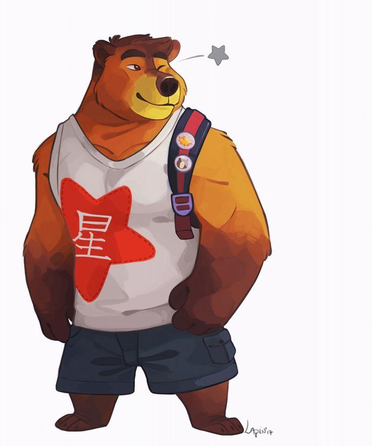 Japenese Bear - by AtaroLapin    #bear   #muscle   #japanese   #star    Follow me:   https://ataroart.tumblr.com/  https://twitter.com/Ataro_Lapin  https://www.instagram.com/atarolapin/  http://atarolapin.deviantart.com/