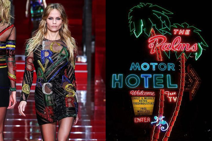 Match #322Versace Fall 2015 | Neon light signs of The Palms Motel in Portland, OregonOriginally from my collaboration with Dazed Digital(ICYMI!), more matches here