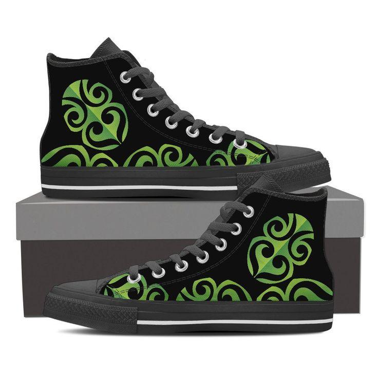 Mens & Womens High Top Shoes - Tiki Green – My Shopn