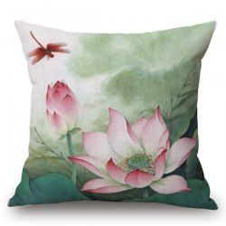 SHARE & Get it FREE | Traditional Red Lotus Painting Pattern Square Shape PillowcaseFor Fashion Lovers only:80,000+ Items • New Arrivals Daily • Affordable Casual to Chic for Every Occasion Join Sammydress: Get YOUR $50 NOW!