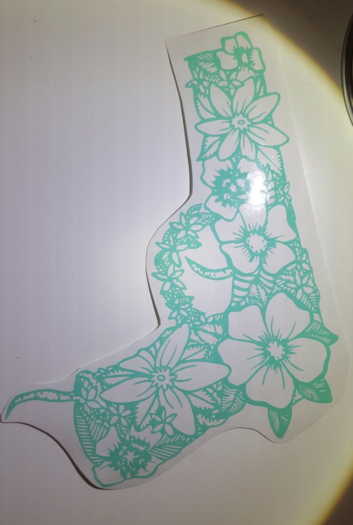 Mandala Flower Gun Decal by ComstockKreations on Etsy