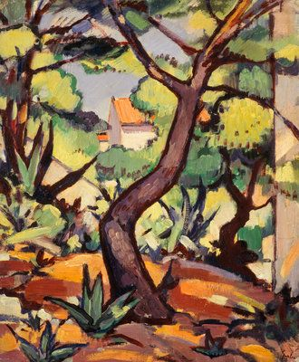Landscape at Cassis by  Samuel John Peploe