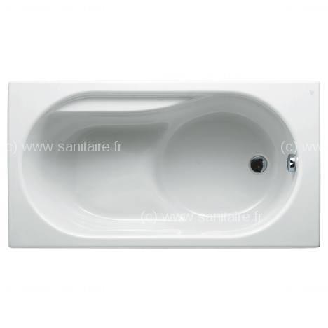 baignoire nue rectangulaire sabot praxis 120x70 165