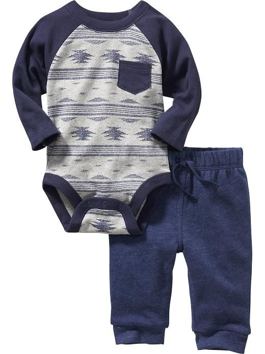 One-Piece Bodysuit and Pants Set for Baby