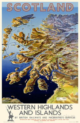 Scotland Western Highlands and Islands Masterprint at AllPosters.com