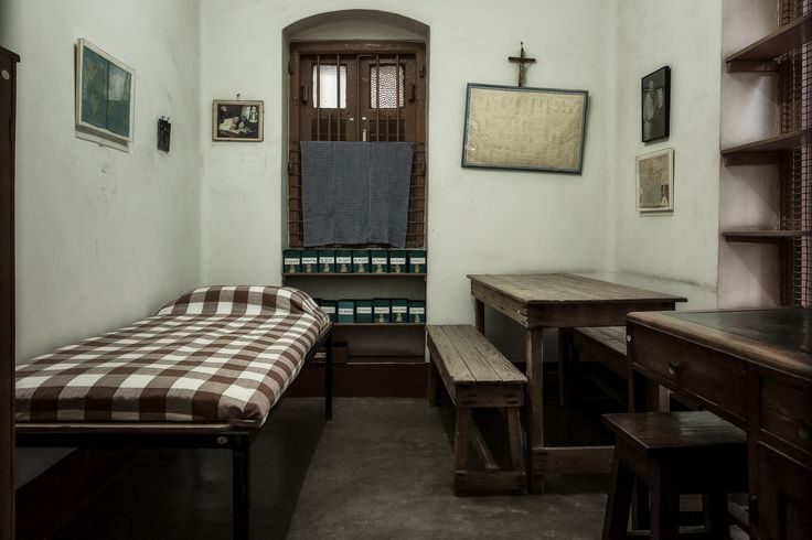The spartan nature of Mother Teresa's bedroom at the Mother House in Kolkata, India illustrates the simplicity of her life, despite the fame she received during her lifetime.