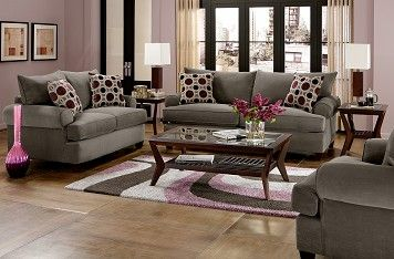 gray and burgundy living room - Google Search