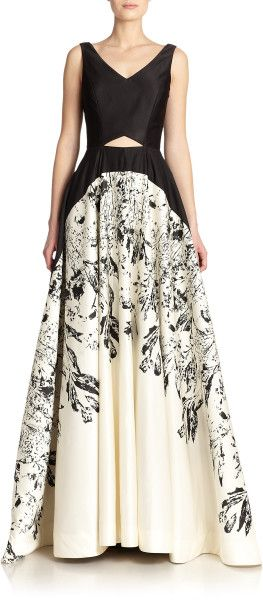Nha Khanh Iris Bicolor A-Line Gown in Black (IRIS BLACK)  jαɢlαdy