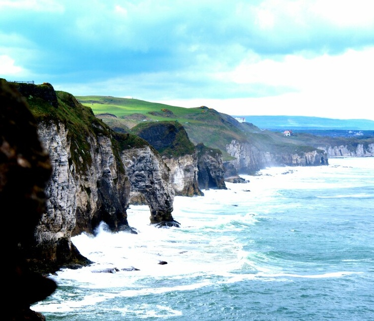 View from Dunluce Castle, North Antrim Coast