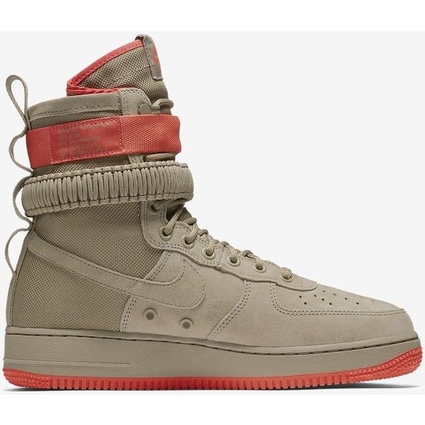 Nike SF Air Force 1 Men's Boot. Nike.com ($100) ❤ liked on Polyvore featuring men's fashion, men's shoes, men's boots, nike mens boots, mens shoes, mens boots and nike mens shoes