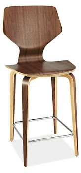 Pike Counter Stool with Wood Base