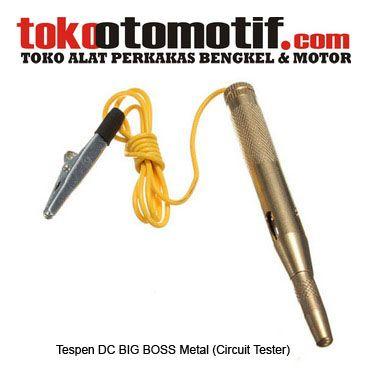 Tespen DC BIG BOSS Metal (Circuit Tester) - Tespen Otomotif ./ Arus DC  KODE : 740003 Nama : Tespen DC (Circuit Tester) Merk : BIG BOSS Tipe : Metal Status : Siap Berat Kirim : 1 Kg  Status : Siap Berat Kirim : 1 Kg  #tespenDC #tespenotomotif #hargatespen #tespenlistrik #jualtespen