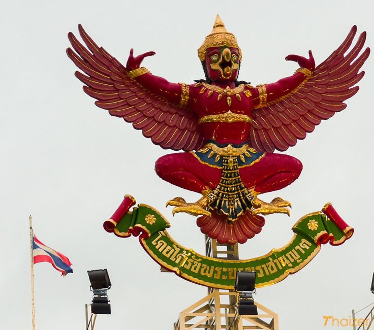 If you visit Thailand you will touch the Thai national emblem, the garuda, but you might do without realizing it.