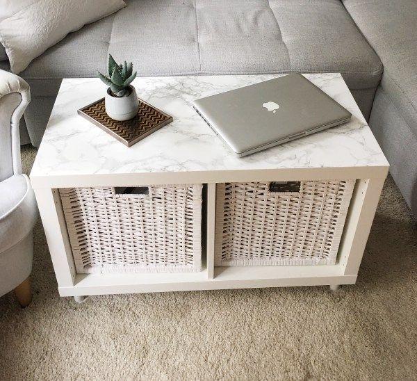 IKEA HACK – Wohnzimmertisch aus Kallax Regal