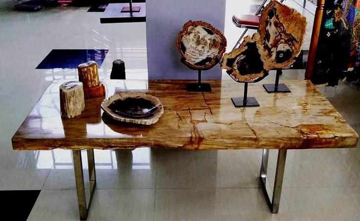 IndoGemstone Petrified Wood Decor.  IndoGemstone has the largest collection of interior design and decorating with petrified wood ideas.