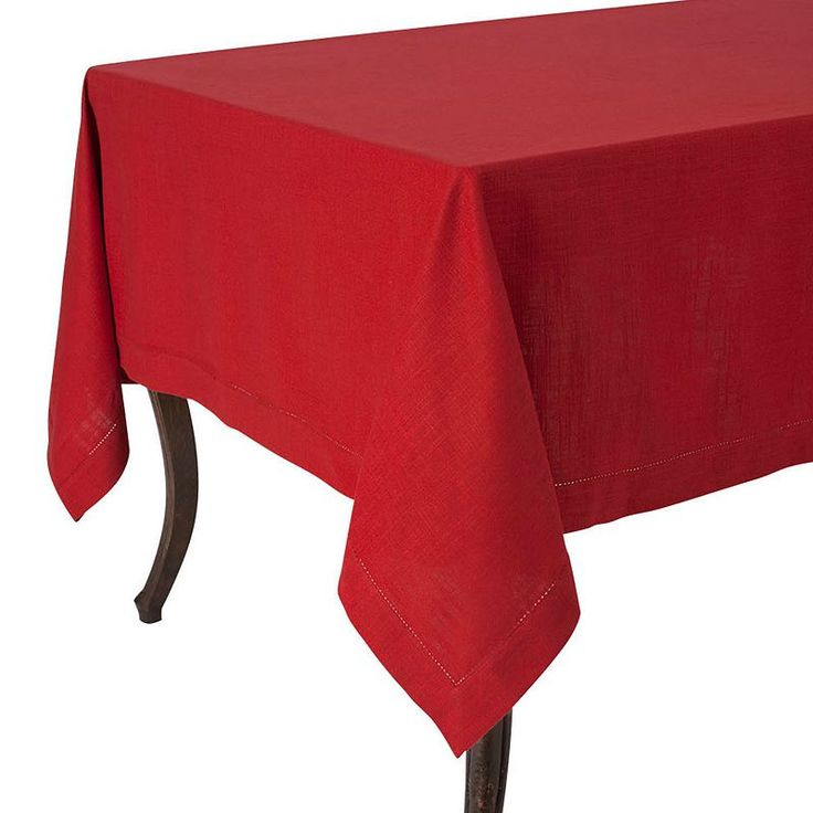 Rustic Tablecloth, Red