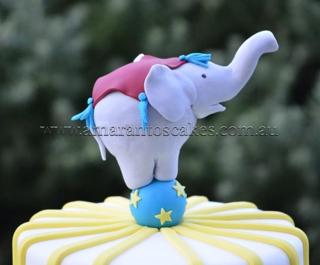 Circus elephant cake topper - photo#9